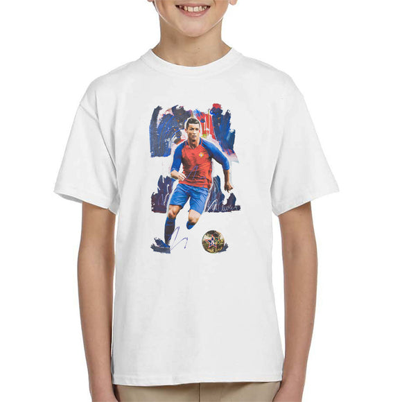 Sidney Maurer Original Portrait Of Cristiano Ronaldo Kid's T-Shirt