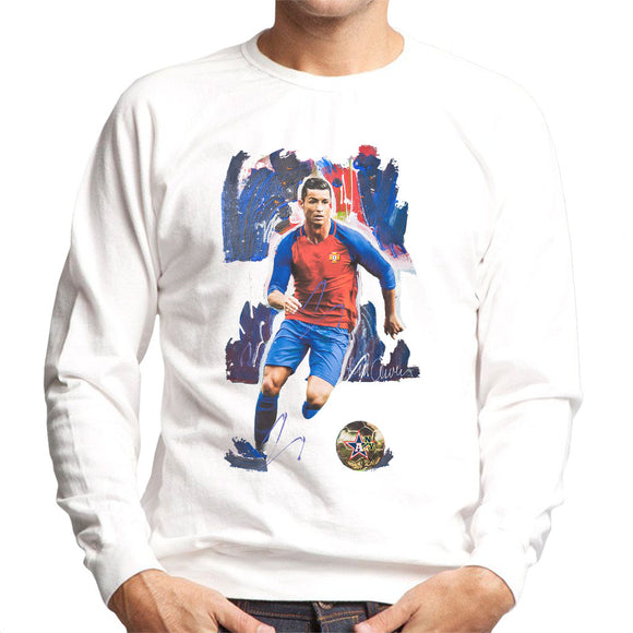 Sidney Maurer Original Portrait Of Cristiano Ronaldo Men's Sweatshirt
