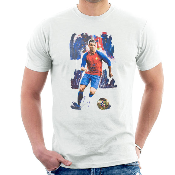 Sidney Maurer Original Portrait Of Cristiano Ronaldo Men's T-Shirt