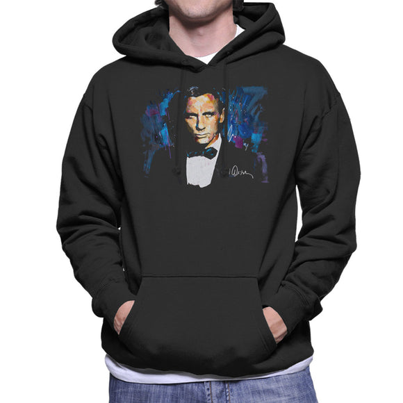 Sidney Maurer Original Portrait Of Daniel Craig James Bond Men's Hooded Sweatshirt