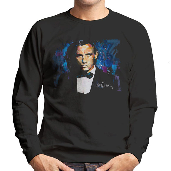 Sidney Maurer Original Portrait Of Daniel Craig James Bond Men's Sweatshirt