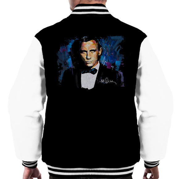 Sidney Maurer Original Portrait Of Daniel Craig James Bond Men's Varsity Jacket
