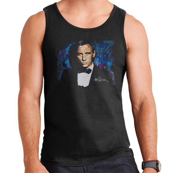 Sidney Maurer Original Portrait Of Daniel Craig James Bond Men's Vest