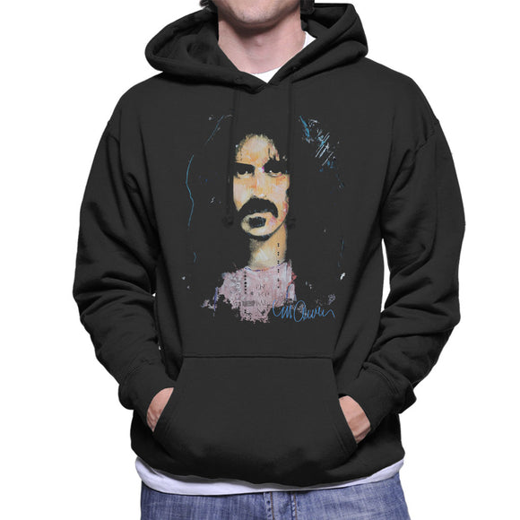 Sidney Maurer Original Portrait Of Frank Zappa Men's Hooded Sweatshirt
