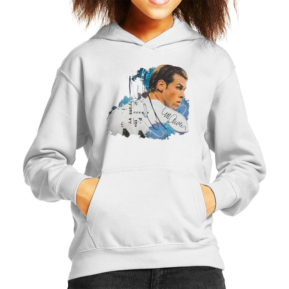 Sidney Maurer Original Portrait Of Gareth Bale Kid's Hooded Sweatshirt