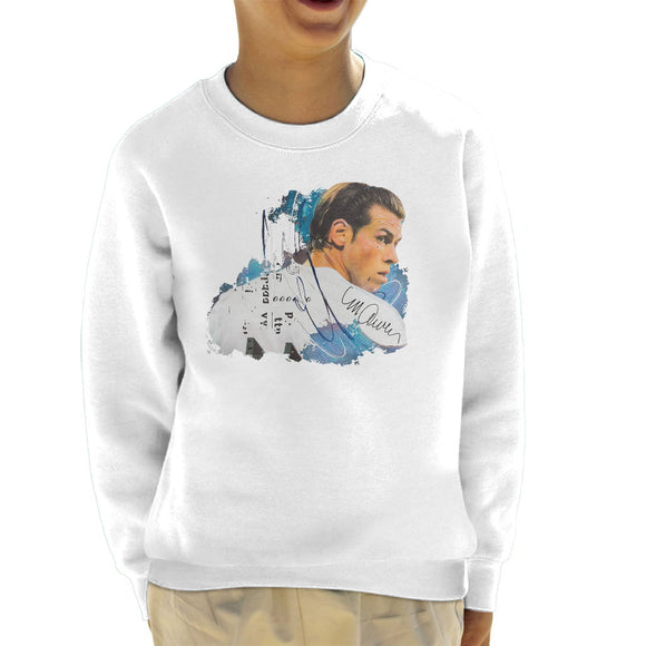 Sidney Maurer Original Portrait Of Gareth Bale Kid's Sweatshirt