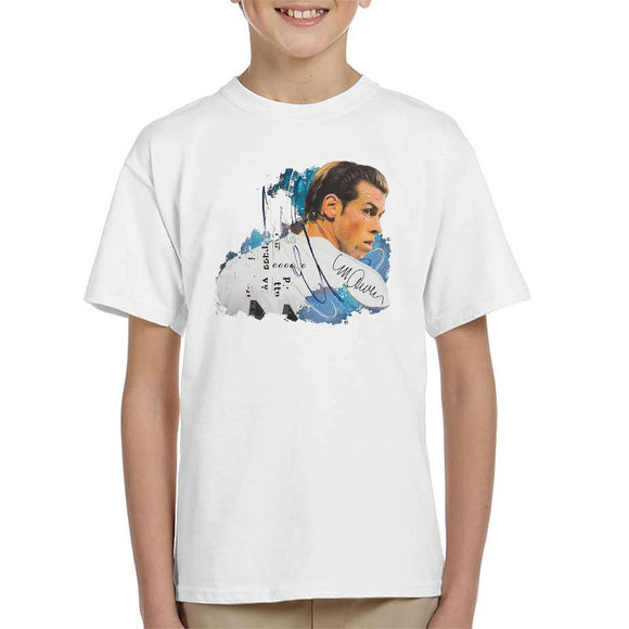 Sidney Maurer Original Portrait Of Gareth Bale Kid's T-Shirt