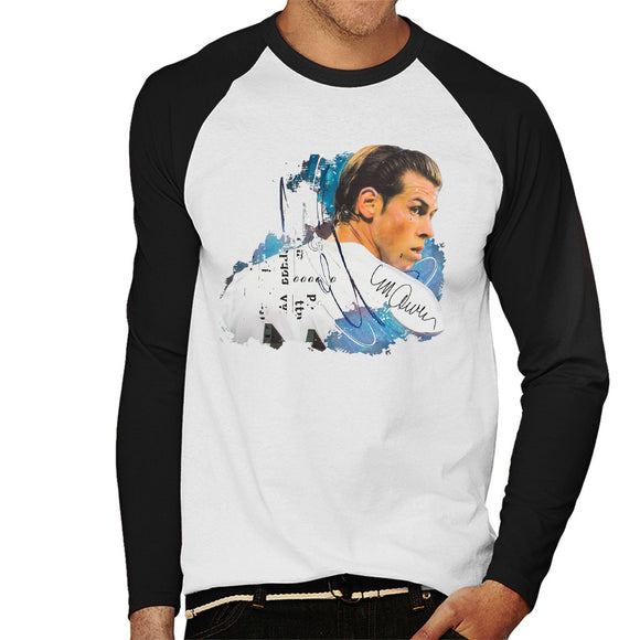 Sidney Maurer Original Portrait Of Gareth Bale Men's Baseball Long Sleeved T-Shirt
