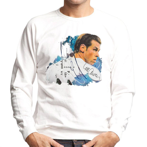 Sidney Maurer Original Portrait Of Gareth Bale Men's Sweatshirt