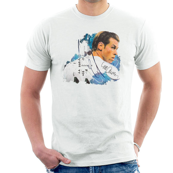 Sidney Maurer Original Portrait Of Gareth Bale Men's T-Shirt