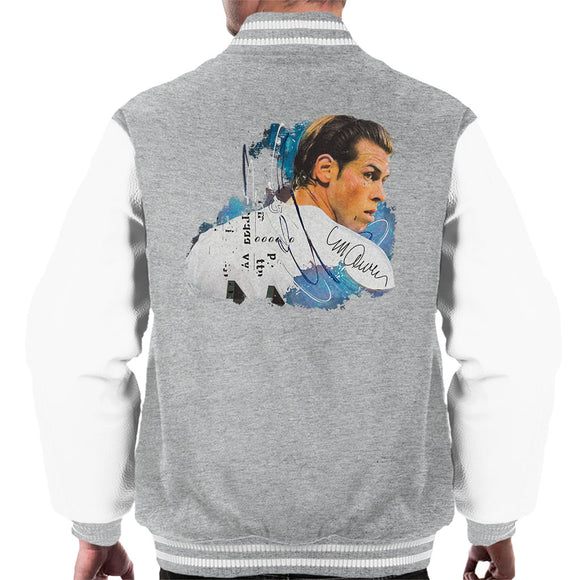 Sidney Maurer Original Portrait Of Gareth Bale Men's Varsity Jacket