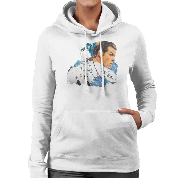 Sidney Maurer Original Portrait Of Gareth Bale Women's Hooded Sweatshirt