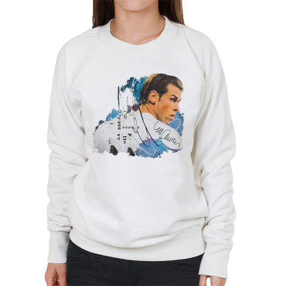Sidney Maurer Original Portrait Of Gareth Bale Women's Sweatshirt
