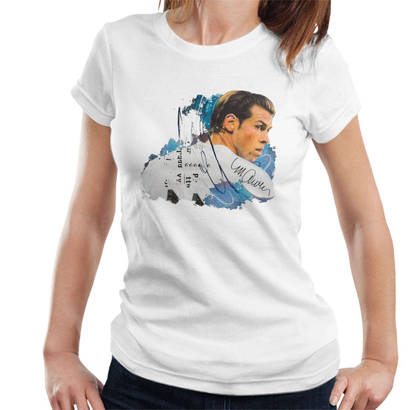 Sidney Maurer Original Portrait Of Gareth Bale Women's T-Shirt