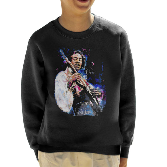 Sidney Maurer Original Portrait Of Jimi Hendrix Kid's Sweatshirt