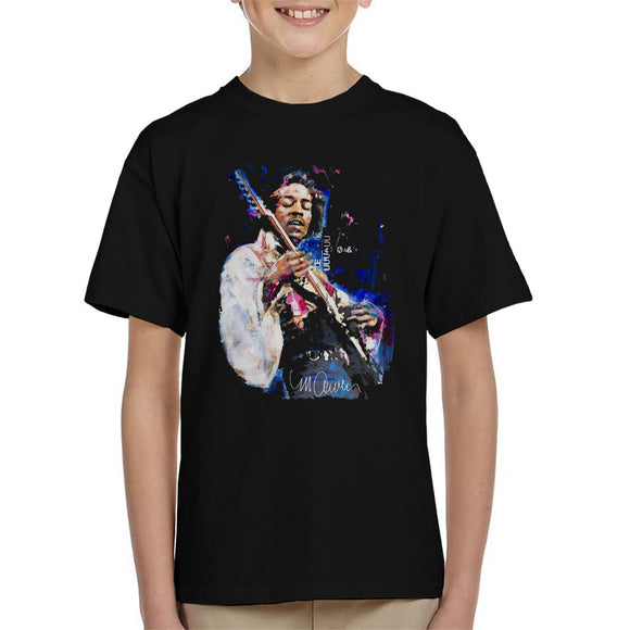 Sidney Maurer Original Portrait Of Jimi Hendrix Kid's T-Shirt