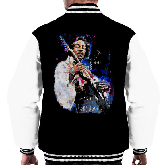 Sidney Maurer Original Portrait Of Jimi Hendrix Men's Varsity Jacket