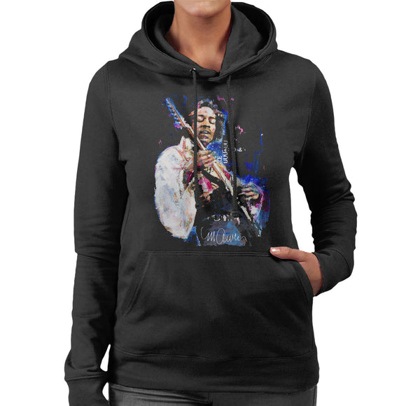 Sidney Maurer Original Portrait Of Jimi Hendrix Women's Hooded Sweatshirt