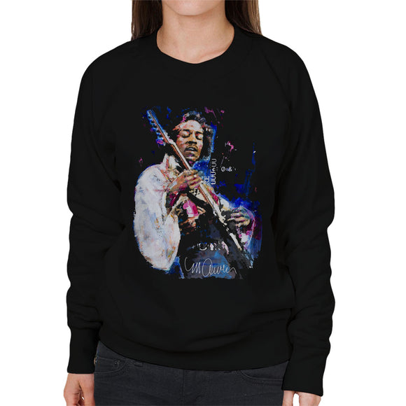 Sidney Maurer Original Portrait Of Jimi Hendrix Women's Sweatshirt