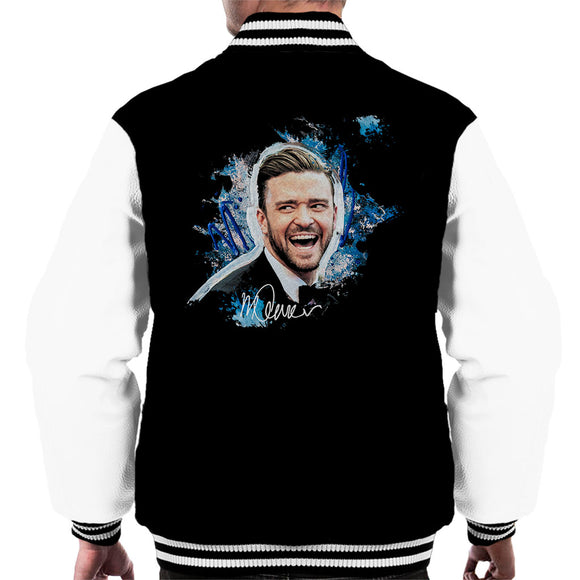Sidney Maurer Original Portrait Of Justin Timberlake Men's Varsity Jacket