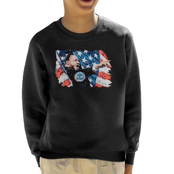 Sidney Maurer Original Portrait Of Martin Luther King Kid's Sweatshirt