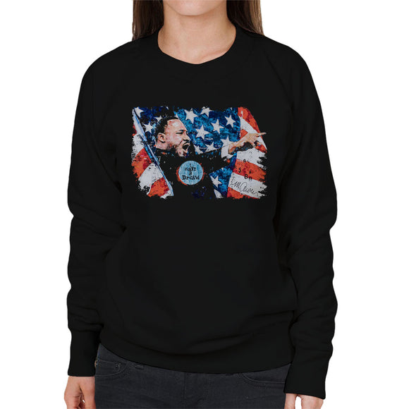 Sidney Maurer Original Portrait Of Martin Luther King Women's Sweatshirt