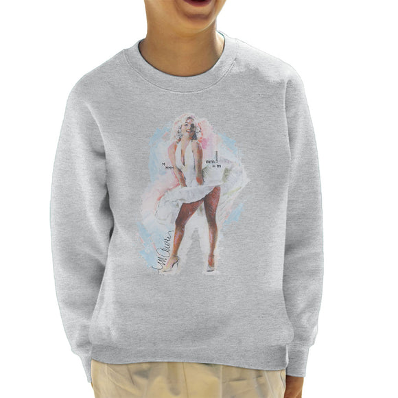 Sidney Maurer Original Portrait Of Marilyn Monroe Skirt Kid's Sweatshirt