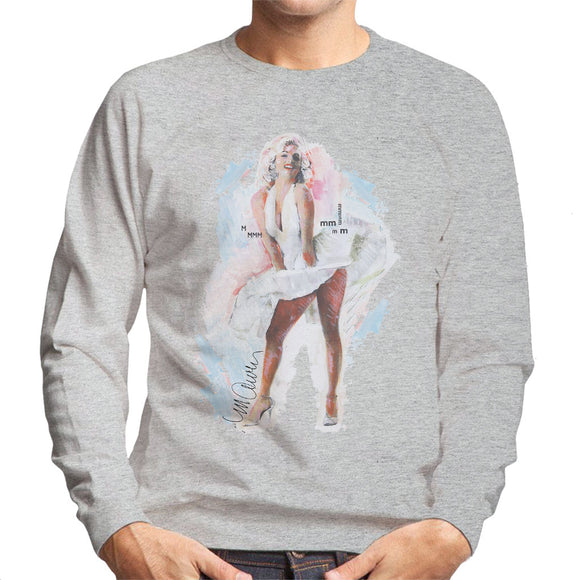 Sidney Maurer Original Portrait Of Marilyn Monroe Skirt Men's Sweatshirt