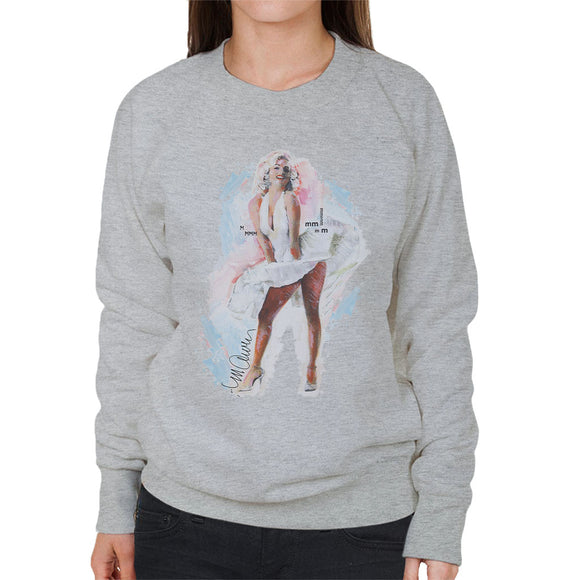 Sidney Maurer Original Portrait Of Marilyn Monroe Skirt Women's Sweatshirt