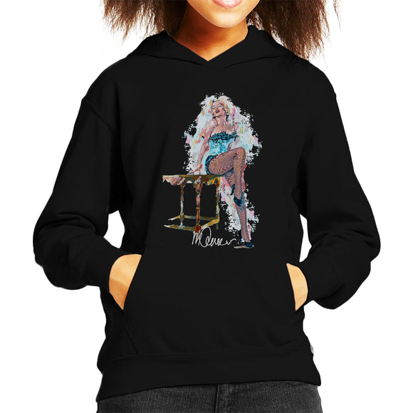 Sidney Maurer Original Portrait Of Marilyn Monroe Stockings Kid's Hooded Sweatshirt