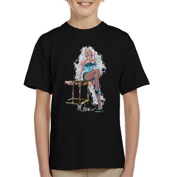 Sidney Maurer Original Portrait Of Marilyn Monroe Stockings Kid's T-Shirt