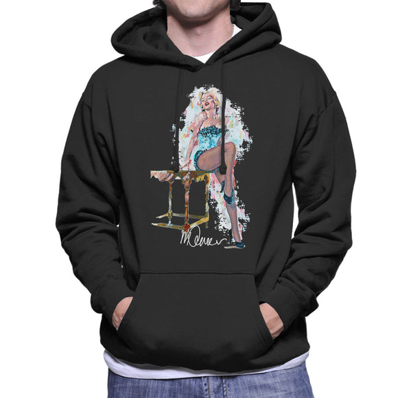 Sidney Maurer Original Portrait Of Marilyn Monroe Stockings Men's Hooded Sweatshirt