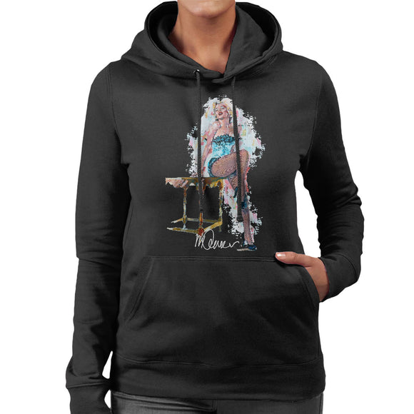 Sidney Maurer Original Portrait Of Marilyn Monroe Stockings Women's Hooded Sweatshirt