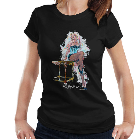 Sidney Maurer Original Portrait Of Marilyn Monroe Stockings Women's T-Shirt