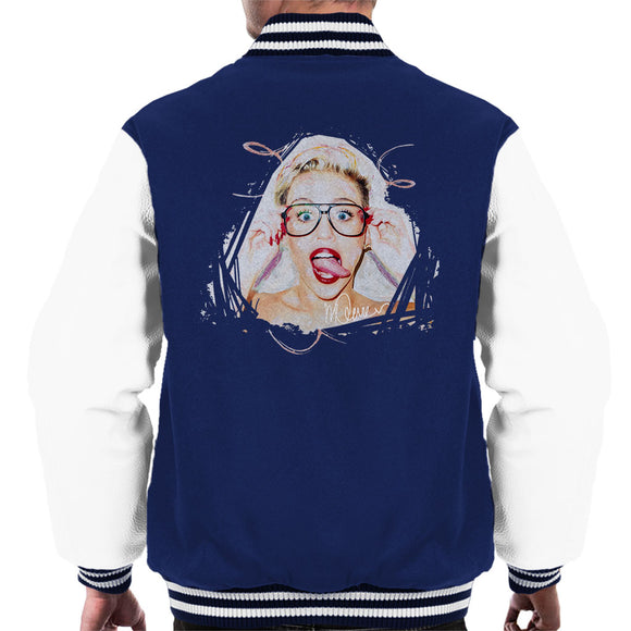 Sidney Maurer Original Portrait Of Miley Cyrus Men's Varsity Jacket