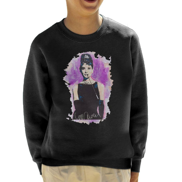 Sidney Maurer Original Portrait Of Audrey Hepburn Kids Sweatshirt - Kids Boys Sweatshirt