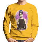 Sidney Maurer Original Portrait Of Audrey Hepburn Mens Sweatshirt - Small / Gold - Mens Sweatshirt