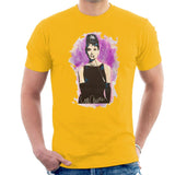 Sidney Maurer Original Portrait Of Audrey Hepburn Mens T-Shirt - Small / Gold - Mens T-Shirt