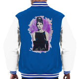 Sidney Maurer Original Portrait Of Audrey Hepburn Mens Varsity Jacket - Small / Royal/White - Mens Varsity Jacket
