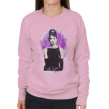 Sidney Maurer Original Portrait Of Audrey Hepburn Womens Sweatshirt - Small / Light Pink - Womens Sweatshirt