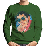 Sidney Maurer Original Portrait Of Ayrton Senna Mens Sweatshirt - Mens Sweatshirt