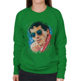 Sidney Maurer Original Portrait Of Ayrton Senna Womens Sweatshirt - Womens Sweatshirt