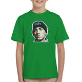 Sidney Maurer Original Portrait Of Eminem Shady Hat Kids T-Shirt - Kids Boys T-Shirt