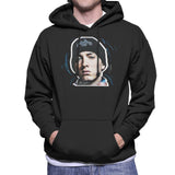 Sidney Maurer Original Portrait Of Eminem Shady Hat Mens Hooded Sweatshirt - Mens Hooded Sweatshirt