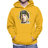Sidney Maurer Original Portrait Of Eminem Shady Hat Mens Hooded Sweatshirt - Small / Gold - Mens Hooded Sweatshirt