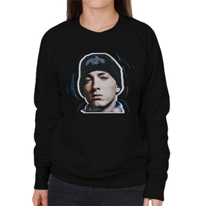 Sidney Maurer Original Portrait Of Eminem Shady Hat Womens Sweatshirt - Womens Sweatshirt
