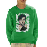 Sidney Maurer Original Portrait Of Jackie Chan Kids Sweatshirt - Kids Boys Sweatshirt
