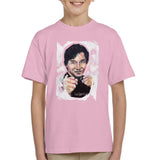 Sidney Maurer Original Portrait Of Jackie Chan Kids T-Shirt - X-Small (3-4 yrs) / Light Pink - Kids Boys T-Shirt