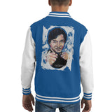 Sidney Maurer Original Portrait Of Jackie Chan Kids Varsity Jacket - X-Small (3-4 yrs) / Royal/White - Kids Boys Varsity Jacket