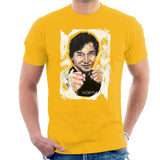 Sidney Maurer Original Portrait Of Jackie Chan Mens T-Shirt - Small / Gold - Mens T-Shirt